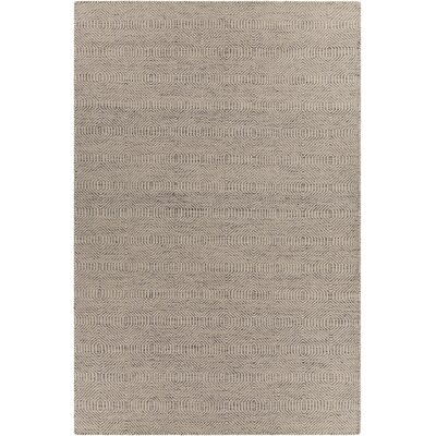 Crest Textured Light Brown Area Rug Rug Size: 79 x 106