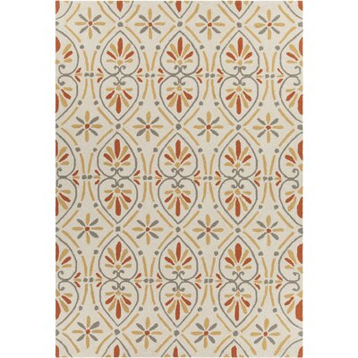 Shoreham Patterned Cream Area Rug Rug Size: 5 x 76