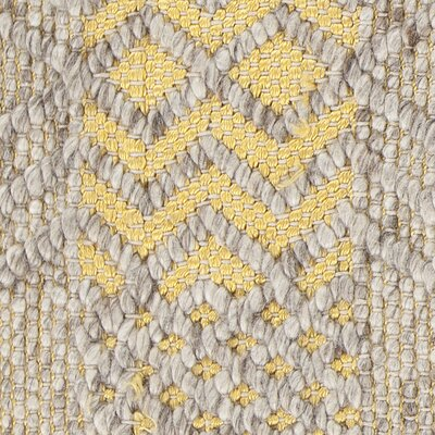 Patwin Patterned Contemporary Yellow/Natural Area Rug Rug Size: 5 x 76