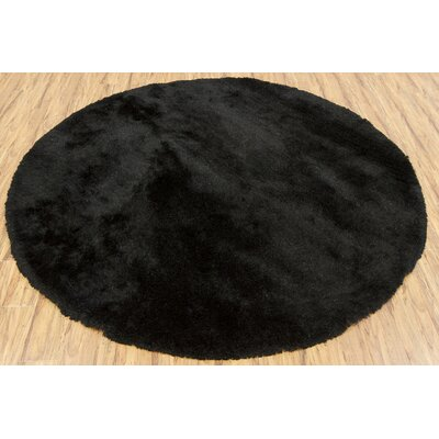 Shaylene Textured Contemporary Black Area Rug Rug Size: 5 x 76