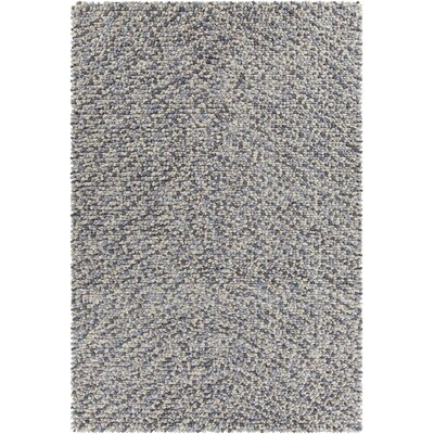 Cassye Textured Contemporary Shag Gray Area Rug Rug Size: 5 x 76