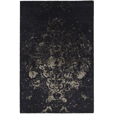 Veleno Patterned Contemporary Charcoal Area Rug