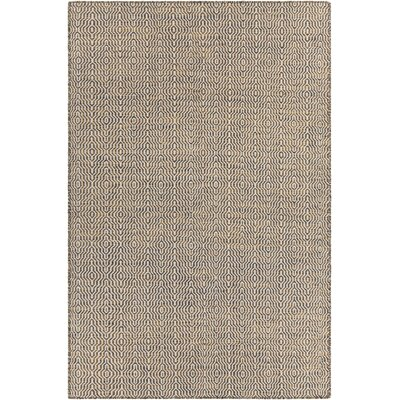 Begley Textured Gold Area Rug Rug Size: 5 x 76