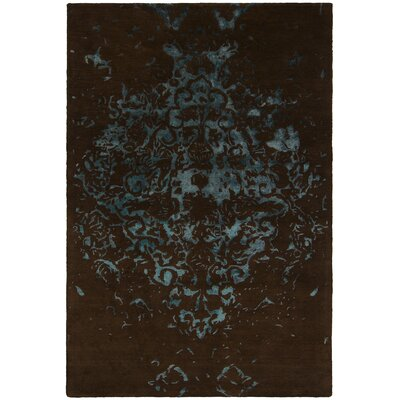 Veleno Brown and Blue Area Rug Rug Size: 79 x 106