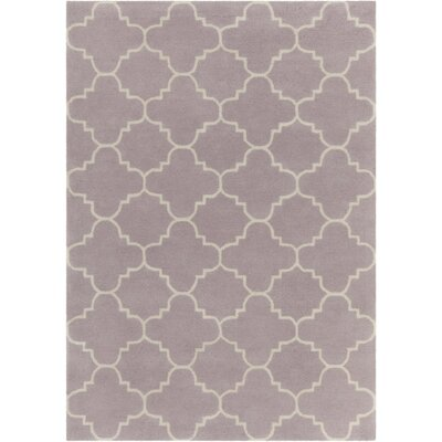 Electra Patterned Contemporary Wool Purple Area Rug Rug Size: 7 x 10