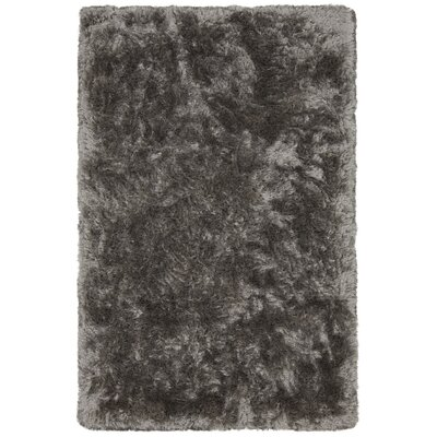 Joellen Textured Contemporary Shag Gray Area Rug