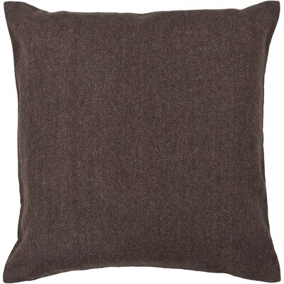 Corliss Textured Contemporary Wool Throw Pillow Size: 18 H x 18 W