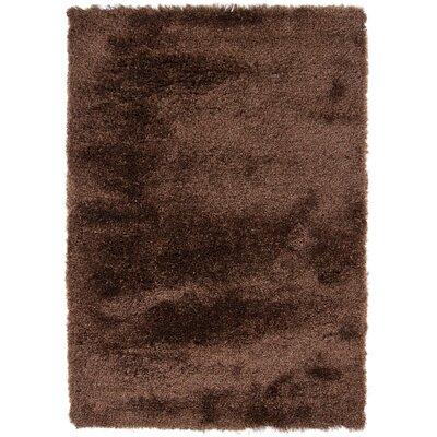 Mercury Textured Contemporary Brown Area Rug Rug Size: 79 x 106