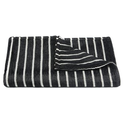 Aria Handcrafted Throw Color: Black/White