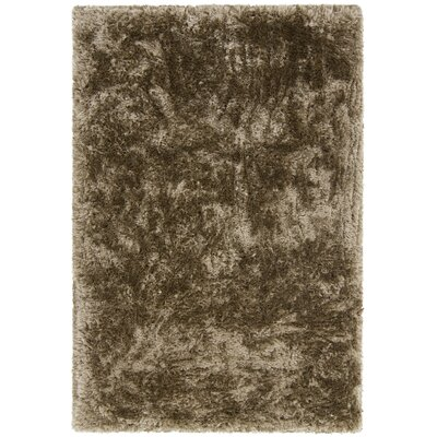 Joellen Textured Contemporary Shag Brown Area Rug