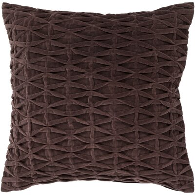 Textured Contemporary Cotton Throw Pillow Size: 18 H x 18 W