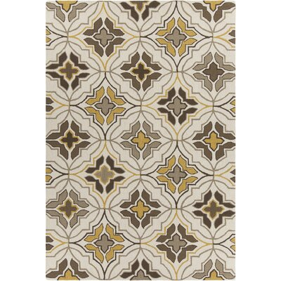 Adonay Patterned Cream Area Rug Rug Size: 5 x 76