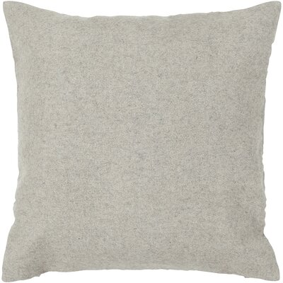 DeLaTorre Textured Wool Throw Pillow Size: 18 H x 18 W