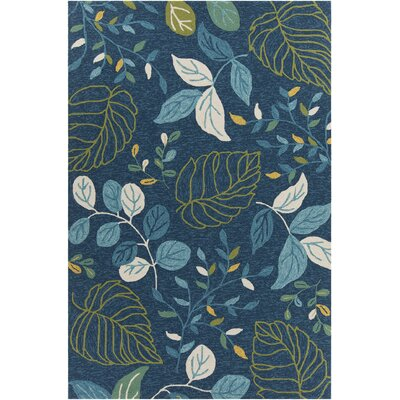 Terra Patterned Blue Area Rug Rug Size: 79 x 106