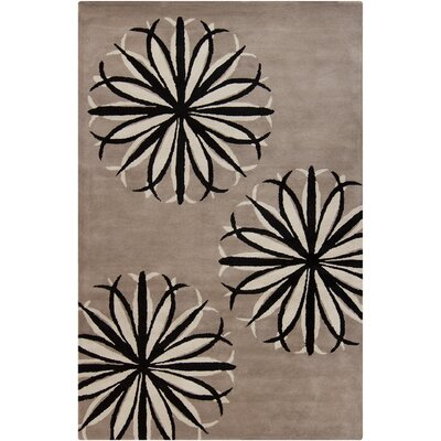 Stella Patterned Contemporary Wool Taupe Area Rug Rug Size: 5 x 76