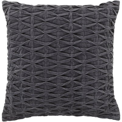 Agustine Textured Contemporary Cotton Throw Pillow Size: 22 H x 22 W