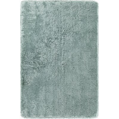 Joellen Textured Contemporary Shag Aqua Blue Area Rug Rug Size: 79 x 106