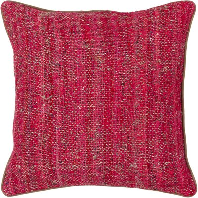 Textured Contemporary Silk Throw Pillow Size: 22