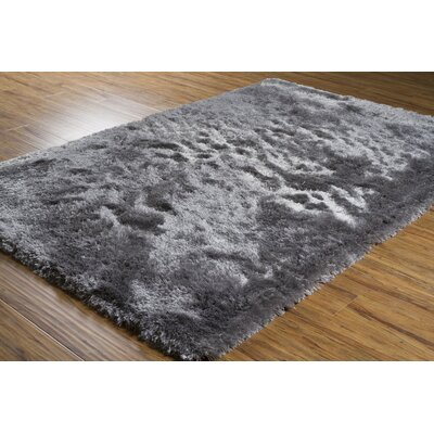 Mercury Textured Contemporary Gray Area Rug Rug Size: 79 x 106