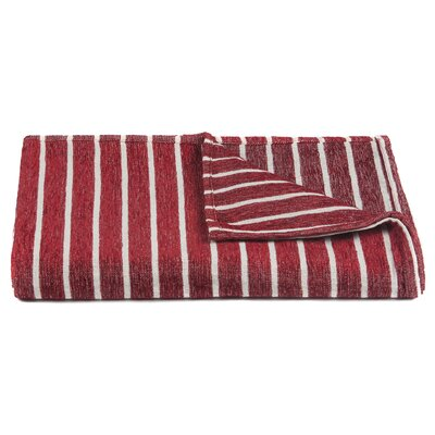 Aria Handcrafted Throw Color: Red/White