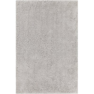 Bella Textured Contemporary Shag Gray Area Rug Rug Size: 79 x 106