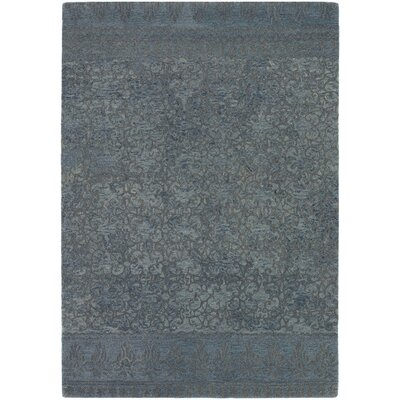 Atascadero Patterned Contemporary Wool Blue/Gray Area Rug Rug Size: 79 x 106