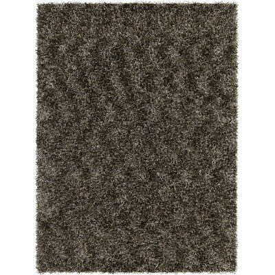 Blossom Textured Shag Charcoal Area Rug Rug Size: 9 x 13