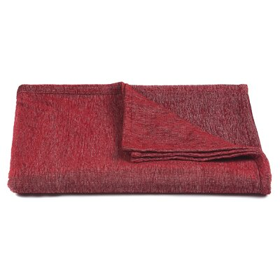 Lulu Handcrafted Polyester Throw Color: Red