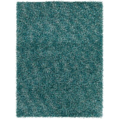 Stickland Textured Shag Blue Area Rug Rug Size: 5 x 7