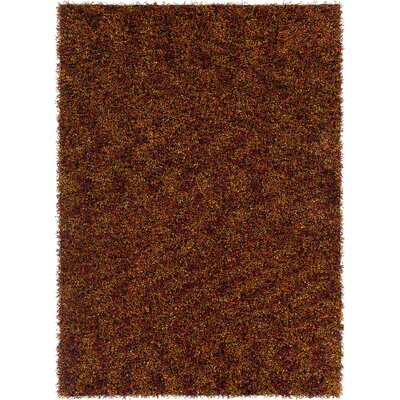Blossom Textured Shag Red/Orange Area Rug Rug Size: 9 x 13