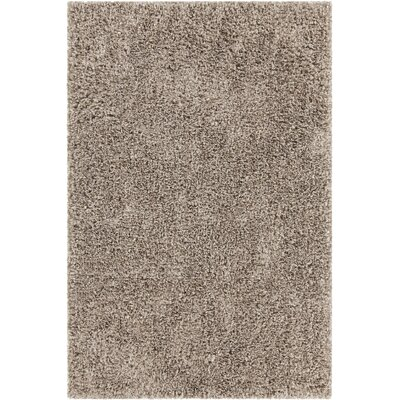 Jolynn Textured Contemporary Shag Tan Area Rug Rug Size: 79 x 106
