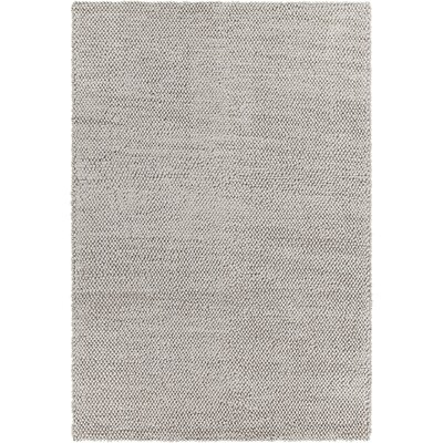 Burton Textured Contemporary Gray Area Rug Rug Size: 79 x 106