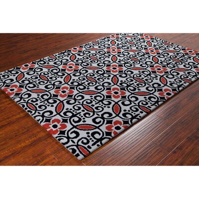 Stella Patterned Contemporary Wool Area Rug Rug Size: 5 x 76