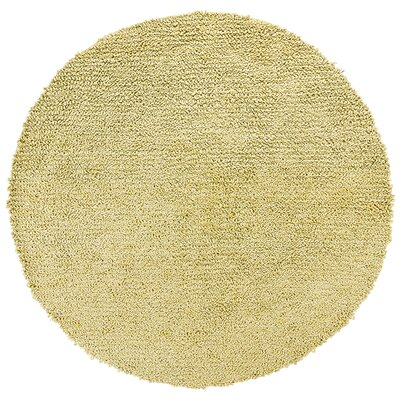 Zeal Solid Yellow Area Rug Rug Size: Round 79