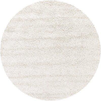 Zeal Cream Area Rug Rug Size: Round 79