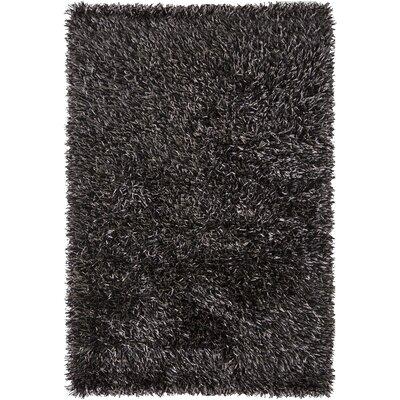 Iris Black Rug Rug Size: 9 x 13