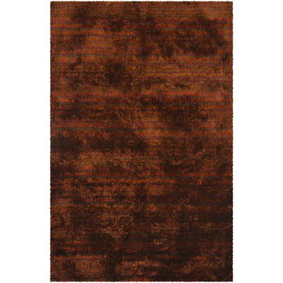 Cyrill Orange Area Rug Rug Size: 79 x 106