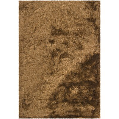 Levy Dark Brown/Tan Area Rug Rug Size: 79 x 106