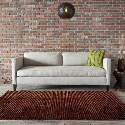 Ulrika Red Area Rug Rug Size: 7'9