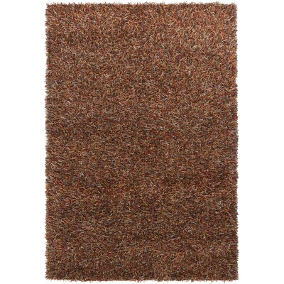 Biles Rust Black/Red Area Rug Rug Size: Round 79