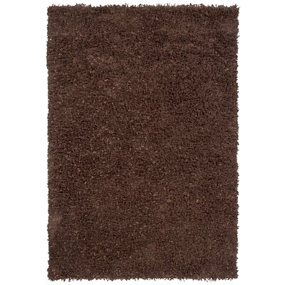 Riza Dark Brown Area Rug Rug Size: 9 x 13