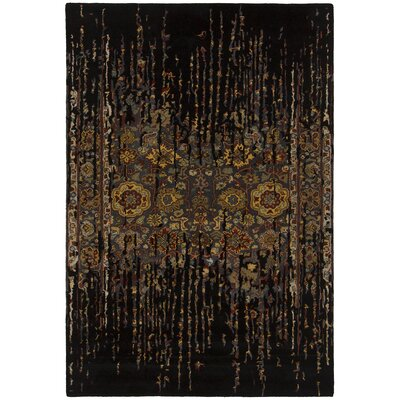 Kate Black Area Rug Rug Size: 79 x 106