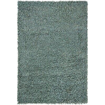 Riza Green Solid Area Rug Rug Size: 7'9