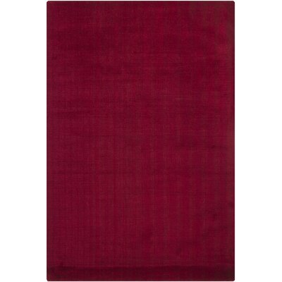 Ferno Red Solid Area Rug Rug Size: 7'9