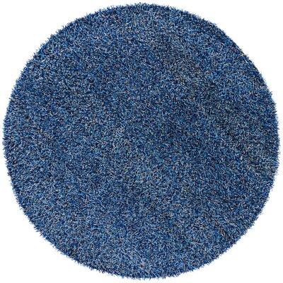 Zara Hand Woven Blue Area Rug Rug Size: Round 79