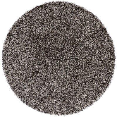 Zara Light Gray Area Rug Rug Size: Round 79