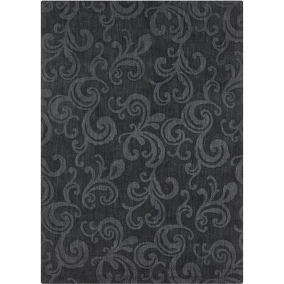 Boris Hand Tufted Rectangle Transitional Black Area Rug Rug Size: 5 x 7