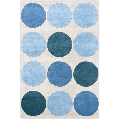 Hartman Hand Tufted Rectangle Contemporary Blue/Gray Area Rug