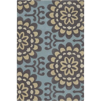 Burchell Blue Area Rug Rug Size: Rectangle 2 x 3