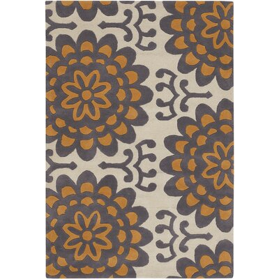 Amy Butler Orange Wallflower Area Rug Rug Size: 79 x 106